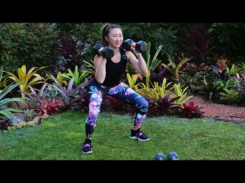 45 min Advanced Full Body Workout with Weights