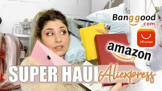 UNBOXING ALIEXPRESS+ HAUL BANGOOD, AMAZON, RIMMEL LONDON | @patrizienta