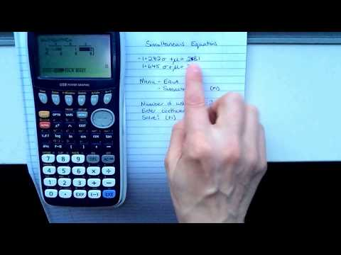 Solving Simultaneous Equations On The Graphics Calculator