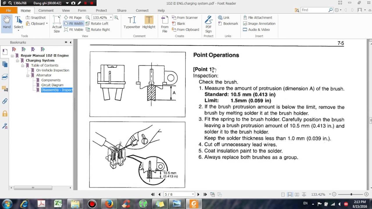 Toyota Repair Manual 1dz Ii Engine