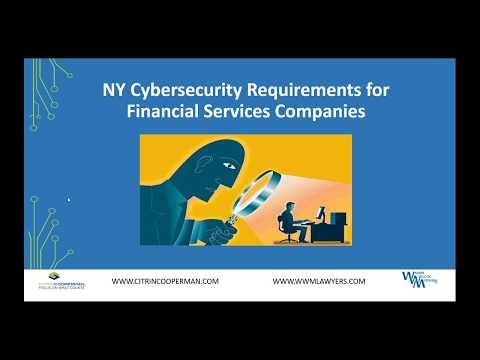 Mandatory NYS Cybersecurity Requirements for Financial Services Companies