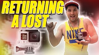 Returning a Lost GoPro! | DALLMYD