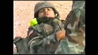 Русские солдаты спасают взорванный американский спецназ