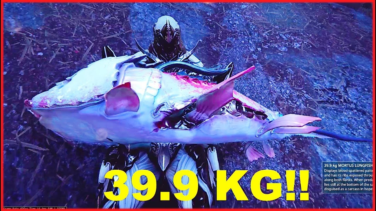 Biggest fish caught in eidolon warframe plains of for How to fish in warframe