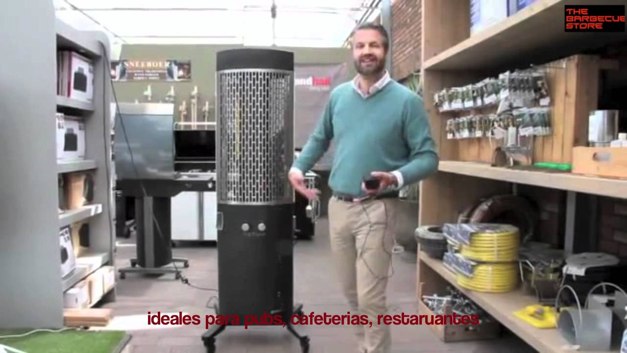 Totum hls heat light sound estufa de terraza youtube for Estufas para terrazas