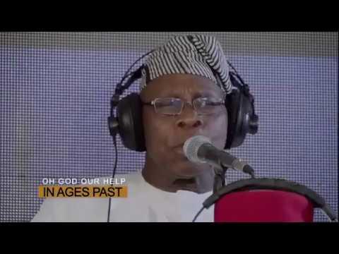 Nigerian Leaders Obasanjo, Gowon, Shonekan, Ekwueme and more sing for Nigeria
