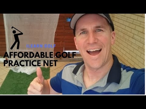 Building an affordable practice golf net