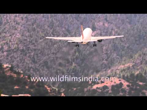 Sudden acceleration and huge altitude gain needed to pull out of Paro airport in Bhutan