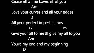 JOHN LEGEND - ALL OF ME (LYRICS AND CHORDS) MP3