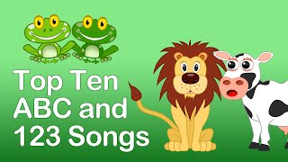 TOP 10 ABC & 123 SONGS PLAYLIST-  20 MINS LONG. Kindergarten and Preschool Learning Songs
