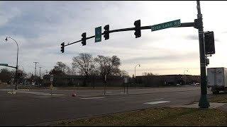 Weekend accident causes damage at Crystal intersection