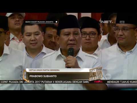 Quick Count Pilkada DKI - Suasana Di Kediamanan Prabowo Subianto Rayakan Kemenangan (12/12)