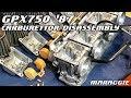 Kawasaki GPX750 1987 - carburettor disassembly
