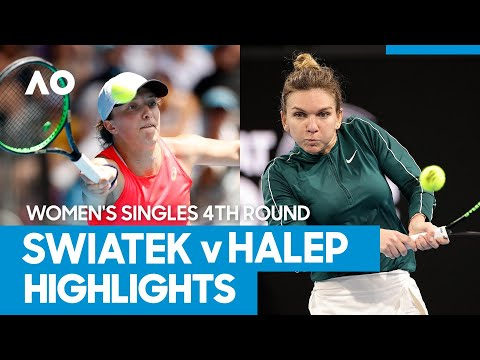 Iga Swiatek vs Simona Halep Match Highlights (4R) | Australian Open 2021