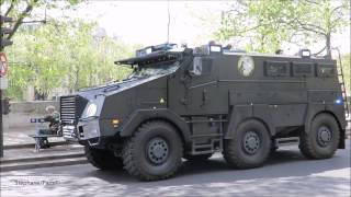 armored truck  French police.