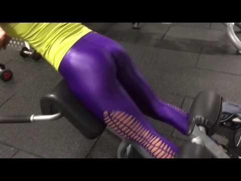 Sexy royal purple leggings workout