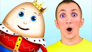 Humpty Dumpty Song for Kids + More Nursery Rhymes. 10 minutes Compilation. Sing Along With Tiki.