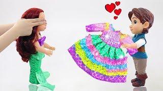 DIY BABY DOLL DRESS: Disney Princess Ariel Rainbow Dresses