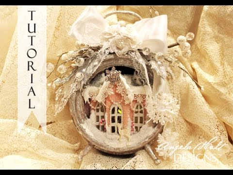 Shabby Winter Altered Clock For Sale Link Below  SOLD
