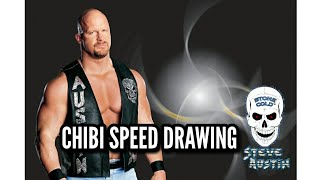 WWE Stone Cold Steve Austin - Chibi Speed Drawing