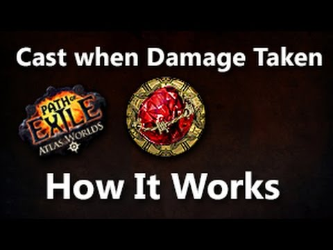 Path Of Exile How Cast When Damage Taken Works Explaining Youtube You are allowed to link multiple spells to a single cwdt gem. path of exile how cast when damage taken works explaining