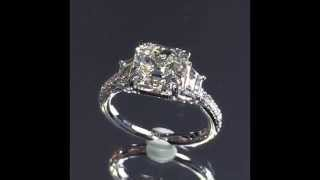 3 carat Asscher cut Diamond 3-Stone Engagement Ring