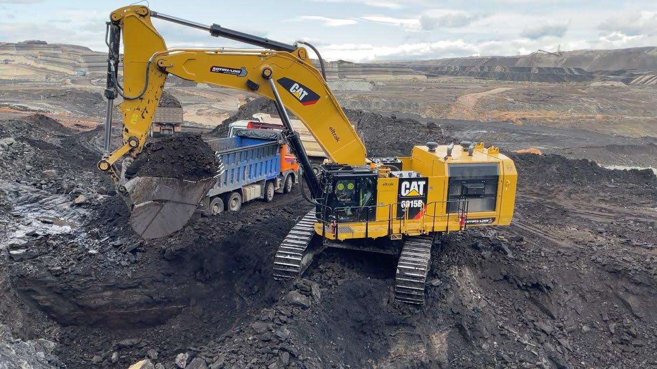 Download Caterpillar 6015B Excavator Loading Trucks - Sotiriadis Mining Works