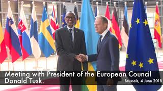 President Kagame meets with European Union Leadership on sidelines of #EDD2018