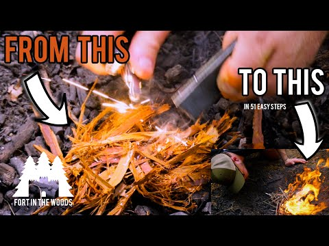 How To Start A Fire With Fire Steel   Fort In The Woods   FITW