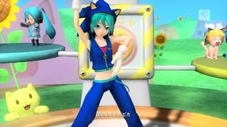 Hatsune Miku Dreamy Theater 2nd - Nekomimi Switch (Cosplay Sonic) [HD]