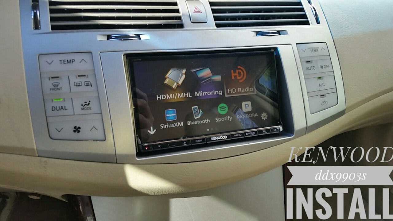 installing a kenwood ddx9903s in 2008 toyota avalon