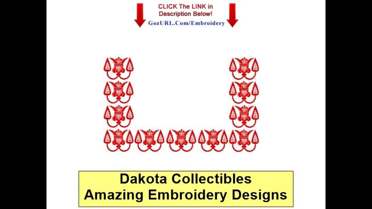 Dakota Collectibles Machine Applique Designs Youtube