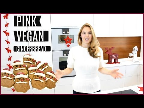 PINK GINGERBREAD SANTA CLAUS  (vegan, easy to make, one bowl)
