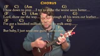 Million Reasons (Lady Gaga) Ukulele Cover Lesson in C with Chords/Lyrics