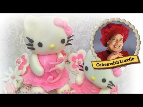 Hello Kitty Cake Topper Tutorial and Cake Design by Lorelie