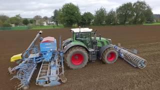 Sowing Wheat   LEMKEN 6m & FENDT 939   SARL DUBOIS