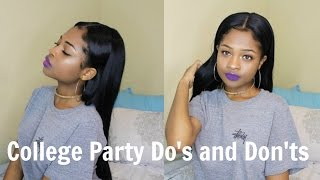 College Party Do's and Don'ts!! + Stories!