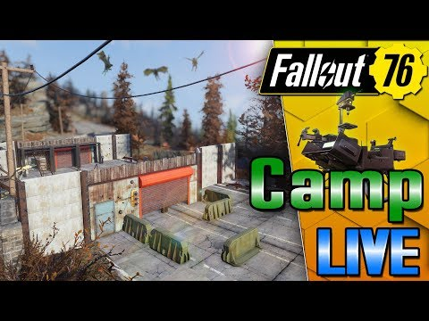 Top of The World Military Checkpoint Build Part 2 - #Fallout76 - LIVE