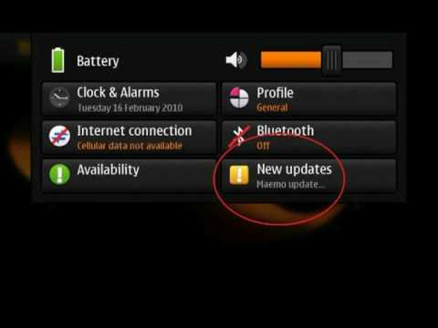 How to update the firmware on the Nokia N900