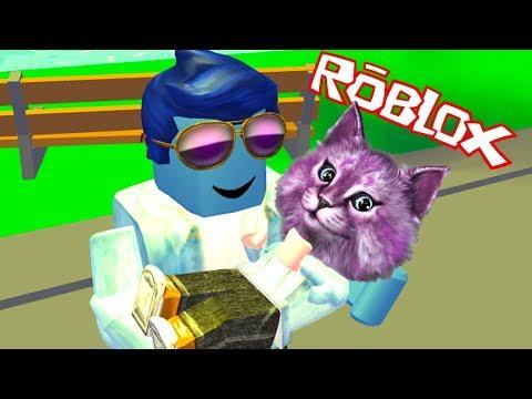 МЕНЯ УДОЧЕРИЛИ в роблокс Adopt Me! ROBLOX говорящая КОШКА ЛАНА играет