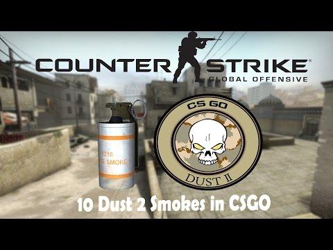 CSGO ✦ Top 10 Dust 2 Smokes Tutorial (Beginner's Guide)