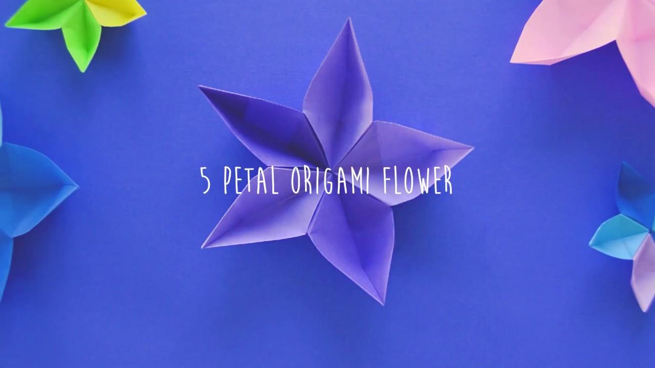 5 petal origami flower youtube mightylinksfo