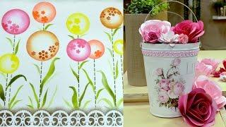 Flores com papel por Regiane Boppré