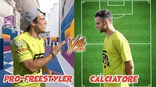 CALCIO VS FREESTYLE : LA SFIDA || FOOTWORK Italia