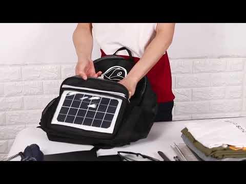 Рюкзак с солнечной зарядкой и USB