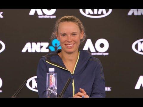 2018 Australian Open Press Conference: Caroline Wozniacki on saving match points to beat Jana Fett