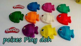 massinhas play doh aprender as cores e numeros com os peixes