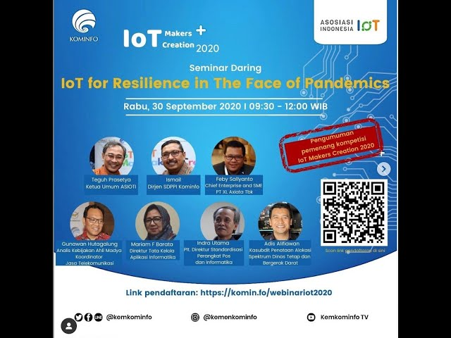 Webinar IoT for Resilience in The Face of Pandemics