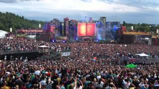 Tomorrowland 2012 - David Guetta Opening ( Titanium ) *HD*