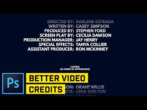 Movie Text End Credits Photoshop CC Tutorial